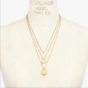 New Madewell Trio Coin Necklace Set
